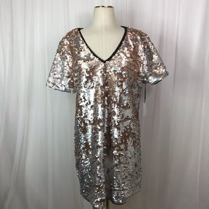 1. State Moody Hues Sequined T-Shirt Dress